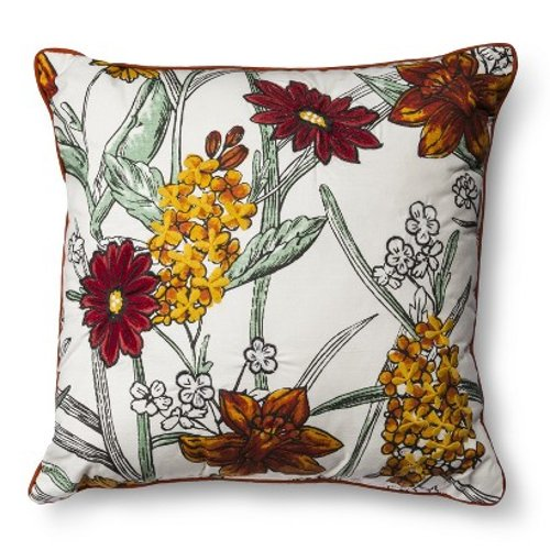 Jacquard Floral Toss Pillow - Multicolor by Threshold in Hall Pass