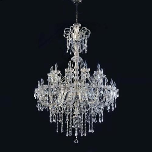 2 Tier 30 Light Hollywood Chandelier by Cristalstrass Murano & Crystal in The Great Gatsby