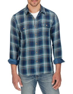 Ballona Plaid Button-Down Shirt by Lucky Brand in Imaginary Mary