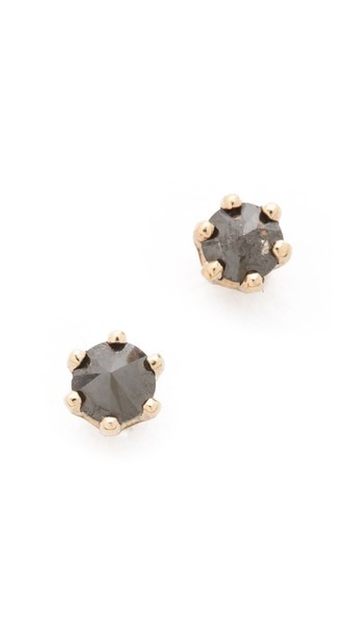 Little Black Diamond Stud Earrings by Blanca Monros Gomez in Scream Queens