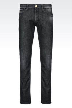 Slim Fit Black Wash Jeans by Armani in Ballers