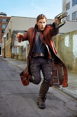 Custom Made Star-Lord Costume by Alexandra Byrne (Costume Designer) in Guardians of the Galaxy