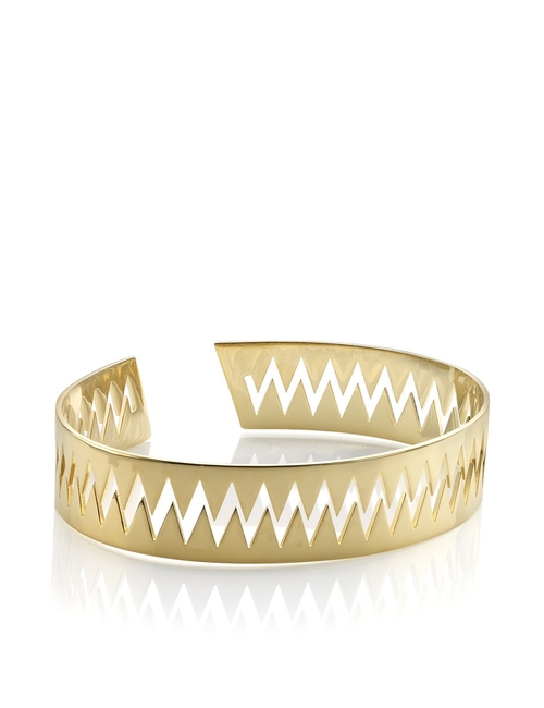 Gold Carnivore Arm Cuff Bracelet by Annelise Michelson in Suicide Squad