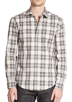 Gingham Flannel Shirt by Barney New York in A Walk in the Woods
