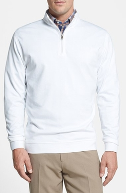 'Interlock' Quarter Zip Pullover by Peter Millar in Silver Linings Playbook