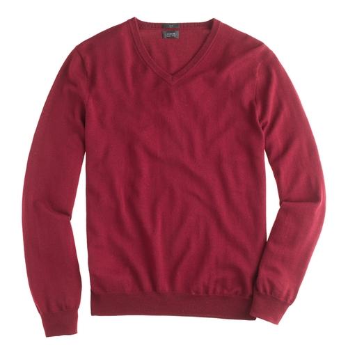 Slim Merino Wool V-Neck Sweater by J. Crew in The Flash - Season 2 Episode 4