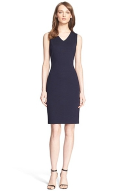 Milano Knit V-Neck Sheath Dress by St. John Collection in The Vampire Diaries