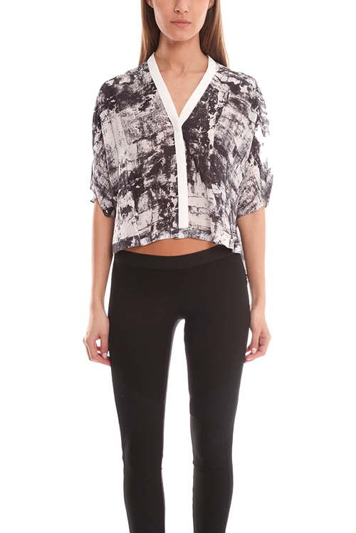 Scriber Print Shirt by Helmut Lang in Mistresses
