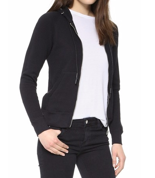 Pierced Zip Hoodie by R13 in Keeping Up With The Kardashians - Season 12 Episode 1