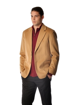 Cashmere Sport Coat by Cashmere Boutique in Elf