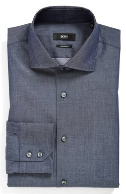 WW Regular Fit Dress Shirt by Boss Hugo Boss in Vice