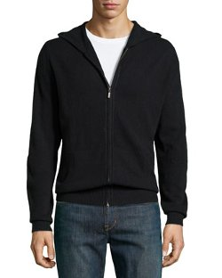 Cashmere Zip-Front Hoodie by Neiman Marcus in If I Stay