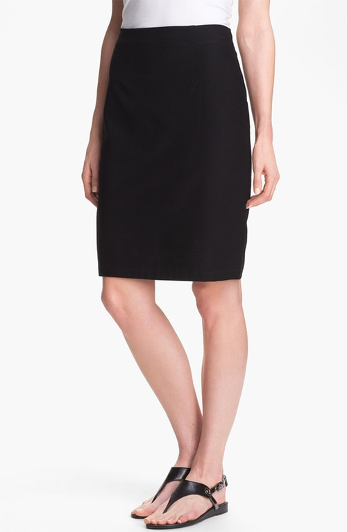 Knit Pencil Skirt by Eileen Fisher in By the Sea