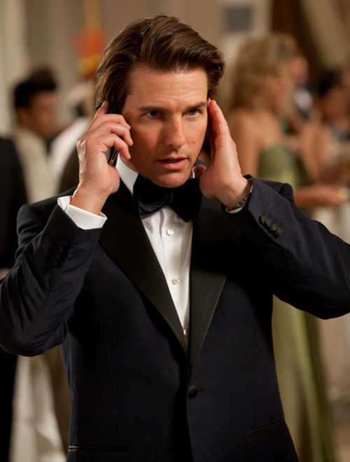 Custom Made Tuxedo Suit by Michael Kaplan (Costume Designer) in Mission: Impossible - Ghost Protocol