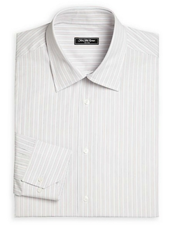 Bridge Striped Cotton Dress Shirt by Saks Fifth Avenue Collection in Billions