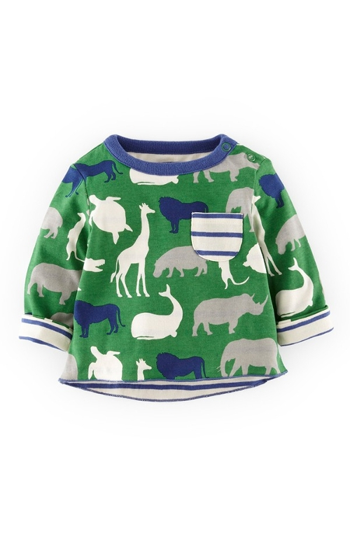 Reversible Print T-Shirt by Mini Boden in Adult Beginners