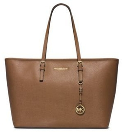 Leather Travel Tote by Michael Kors in The Boss