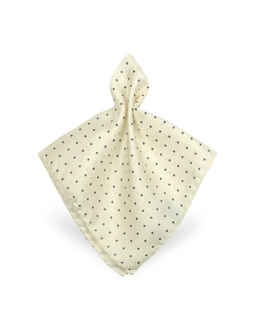 Polkadot Twill Silk Pocket Square by Forzieri in The Man from U.N.C.L.E.