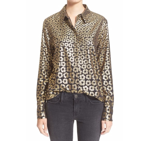 'Darcy' Foil Print Silk Blouse by Equipment in Animal Kingdom - Season 1 Episode 6