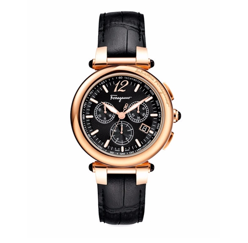 Croc-Embossed Chronograph Watch by Salvatore Ferragamo in Ballers