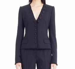 Eyelash Trim Stretch Wool Jacket by Dolce & Gabbana in The Blacklist