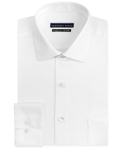 Non-Iron Sateen Solid Dress Shirt by Geoffrey Beene in Unfinished Business