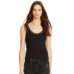 Lace-Trim Cotton Tank Top by Polo Ralph Lauren in The Blacklist