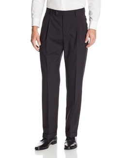 Men's Pleated Suit Separate Pant by Nautica in Nightcrawler