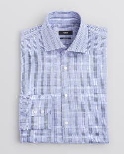 Gerald Glen Plaid Dress Shirt - Classic Fit by HUGO BOSS in Million Dollar Arm