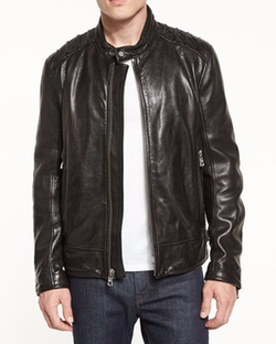 Boarder Leather Moto Jacket by Andrew Marc in Lethal Weapon