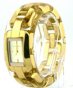 MK3261 Gold Link Clear Resin Bangle Watch by Michael Kors in Empire