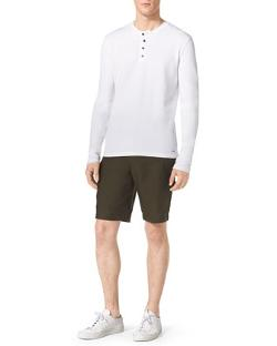 Waffle-Rib Henley Shirt by Michael Kors in The Maze Runner