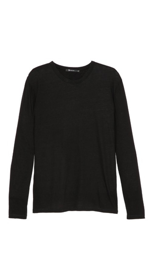 Classic Long Sleeve T-Shirt by T by Alexander Wang in The Town
