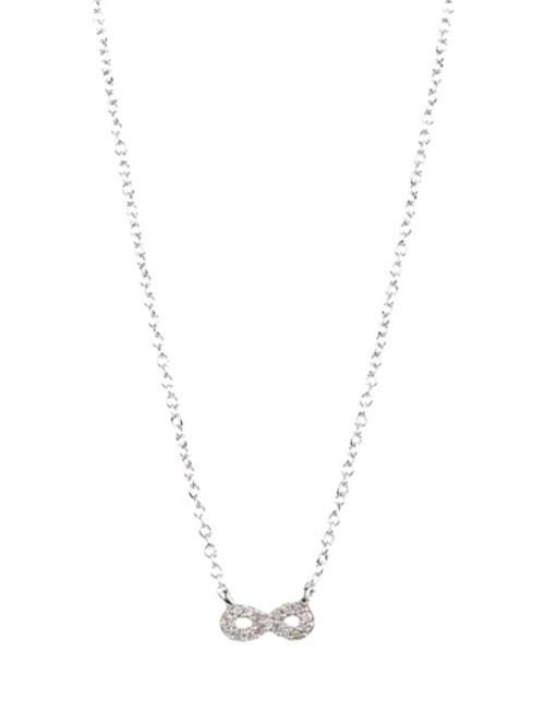 Super Tiny Pave Infinity Necklace by Adina Reyter in Into the Storm
