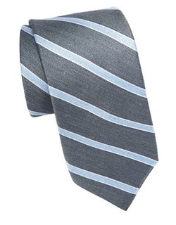 Asymmetrical Striped Tie by Michael Kors in Secret in Their Eyes