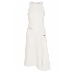 Asymmetric Cutout Crepe Dress by Mugler in Suits