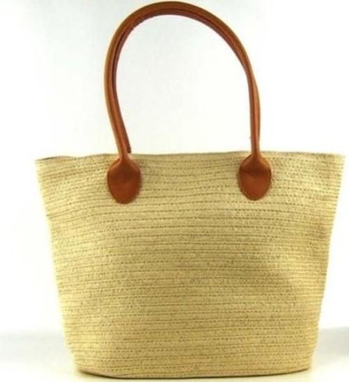 Faux Straw Weaving Totes Shoulder Bag Handbag Beach Bag by T-explorer in Tammy