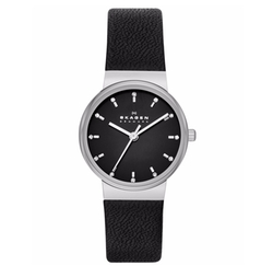 Women's Ancher Leather Strap Watch by Skagen in Guilt