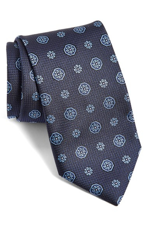 Medallion Silk Tie by Canali in Our Brand Is Crisis