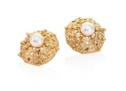 Urchin Faux-Pearl Stud Earrings by Oscar de la Renta in Designated Survivor