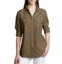 Safari Long-Sleeve Silk Shirt by Go Silk in Will & Grace