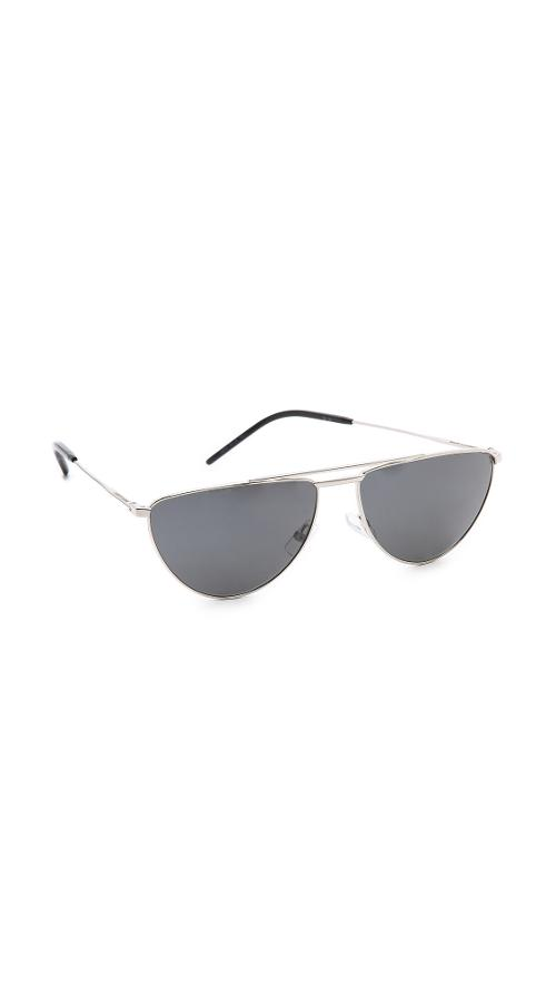 Flat Top Aviator Polarized Sunglasses by Saint Laurent in Couple's Retreat