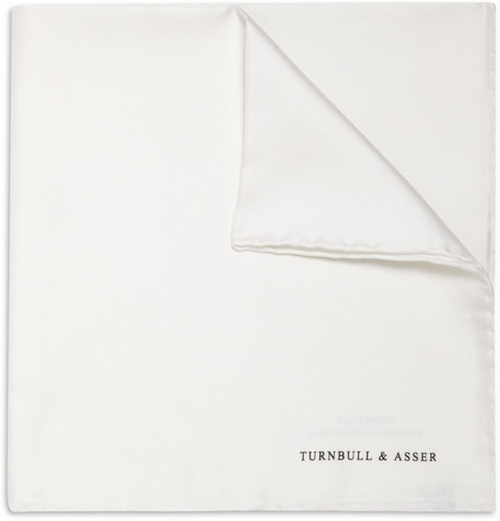 Silk Pocket Square by Turnbull & Asser in Elementary - Season 4 Episode 1
