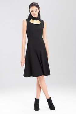 Double Knit Jersey Turtle Neck Dress by Josie Natori in Pretty Little Liars