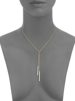 Two-Bar Lariat Necklace by Zoe Chicco in We Are Your Friends