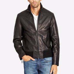 The Leather Bomber Jacket by Bonobos in Power