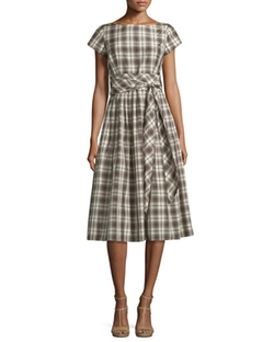 Cap-Sleeve Fit-&-Flare Midi Dress by Michael Kors Collection  in Me and Earl and the Dying Girl