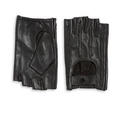 Fingerless Leather Gloves by Karl Lagerfeld in The Fate of the Furious