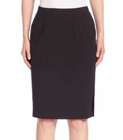 Pleated Pencil Skirt by Eileen Fisher in Elementary