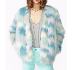 Multicolor Fantasy Faux Fur Coat by Nasty Gal in Scream Queens